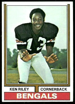 Ken Riley 1974 Topps football card