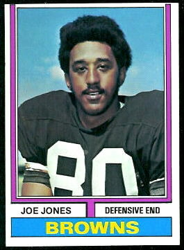 Joe Jones 1974 Topps football card