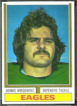 Dennis Wirgowski 1974 Topps football card