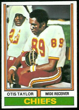 Otis Taylor 1974 Topps football card