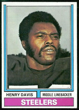 Henry Davis 1974 Topps football card