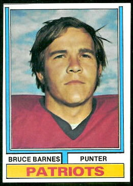Bruce Barnes 1974 Topps football card