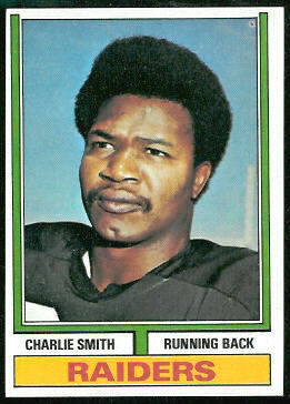 Charlie Smith 1974 Topps football card