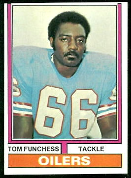 Tom Funchess 1974 Topps football card
