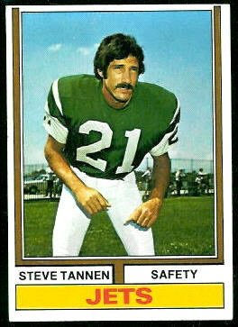 Steve Tannen 1974 Topps football card