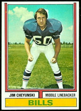 Jim Cheyunski 1974 Topps football card