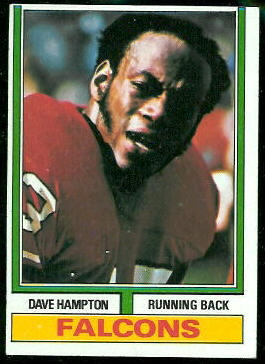 Dave Hampton 1974 Topps football card
