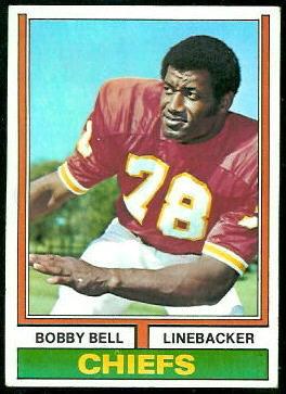 Bobby Bell 1974 Topps football card