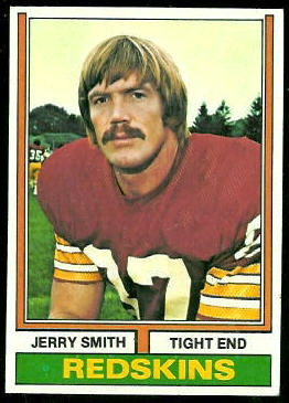 Jerry Smith 1974 Topps football card