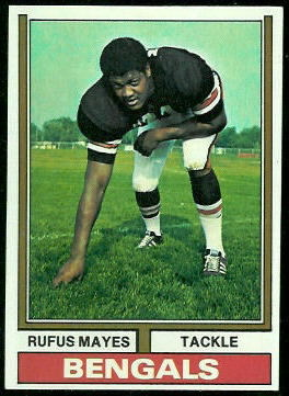 Rufus Mayes 1974 Topps football card