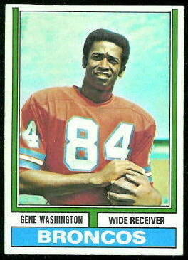 Gene Washington 1974 Topps football card