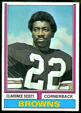 Clarence Scott 1974 Topps football card