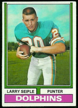 Larry Seiple 1974 Topps football card