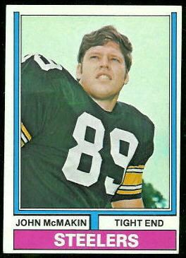 John McMakin 1974 Topps football card