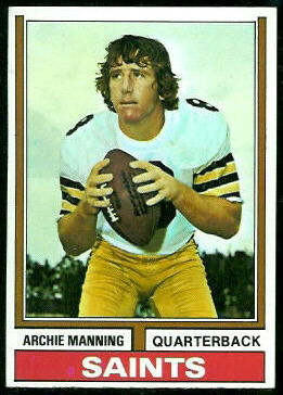 Archie Manning 1974 Topps football card
