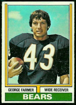 George Farmer 1974 Topps football card