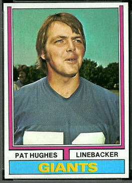 Pat Hughes 1974 Topps football card