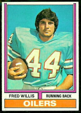 Fred Willis 1974 Topps football card