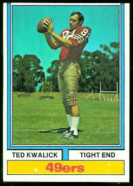 Ted Kwalick 1974 Topps football card