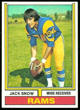 Jack Snow 1974 Topps football card