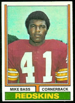 Mike Bass 1974 Topps football card