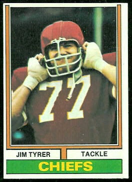 Jim Tyrer 1974 Topps football card