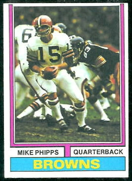 Mike Phipps 1974 Topps football card