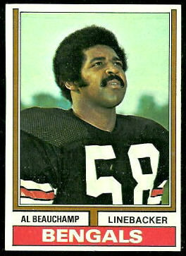 Al Beauchamp 1974 Topps football card