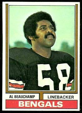 Al Beauchamp 1974 Topps football card