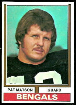 Pat Matson 1974 Topps football card