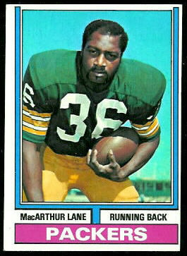 MacArthur Lane 1974 Topps football card