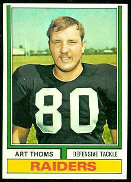 Art Thoms 1974 Topps football card