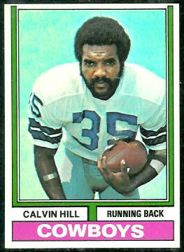 Calvin Hill 1974 Topps football card