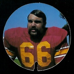 Bill Bain 1974 USC Discs football card