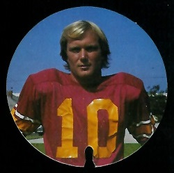 Pat Haden 1974 USC Discs football card