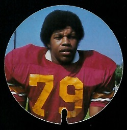 Gary Jeter 1974 USC Discs football card