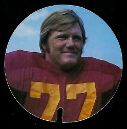 Steve Knutson 1974 USC Discs football card