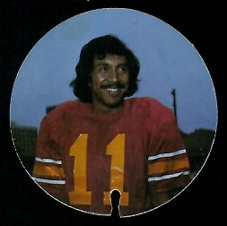Chris Limahelu 1974 USC Discs football card