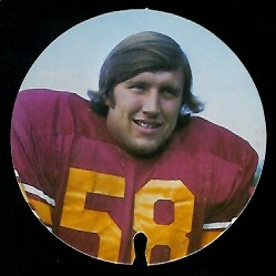 Bob McCaffrey 1974 USC Discs football card