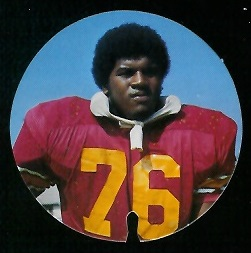 Marvin Powell 1974 USC Discs football card