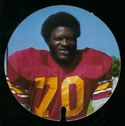 Art Riley 1974 USC Discs football card
