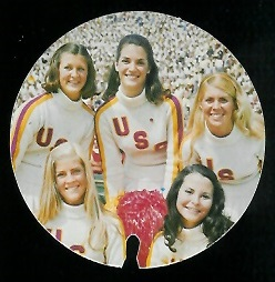 USC Song Girls 1974 USC Discs football card