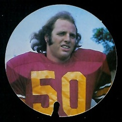 Kevin Bruce 1974 USC Discs football card
