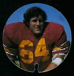 Joe Davis 1974 USC Discs football card