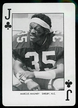Marcus Mauney 1974 West Virginia Playing Cards football card