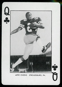 Artie Owens 1974 West Virginia Playing Cards football card