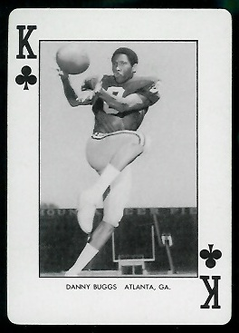 Danny Buggs 1974 West Virginia Playing Cards football card