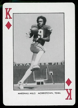 Marshall Mills 1974 West Virginia Playing Cards football card