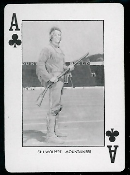 Stu Wolpert 1974 West Virginia Playing Cards football card