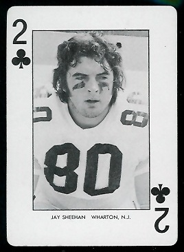 Jay Sheehan 1974 West Virginia Playing Cards football card